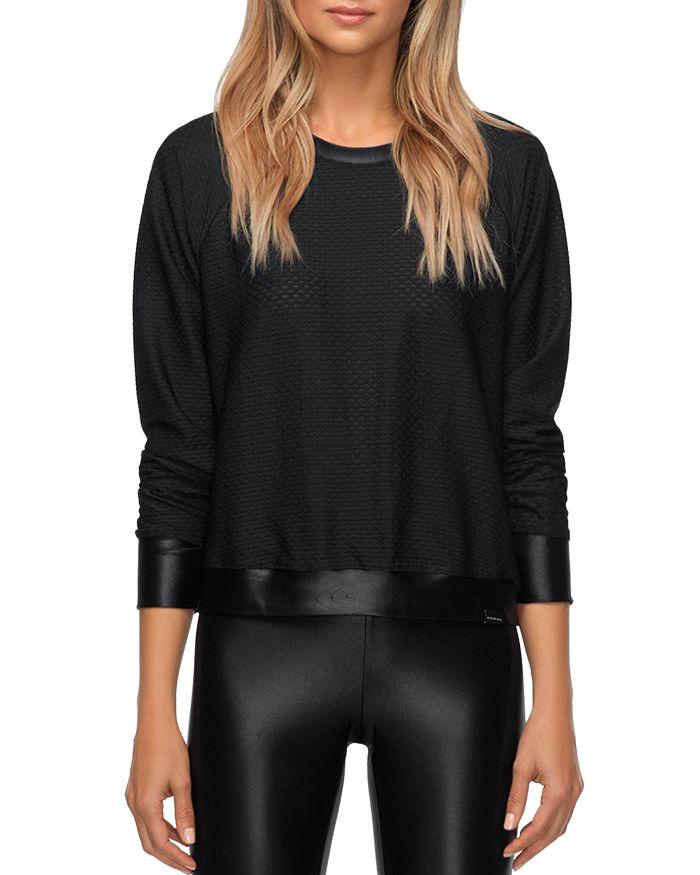 KORAL - Sofia Mesh Long-Sleeve Pullover Top