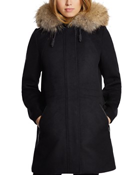 Dawn Levy - Tiffany Fur Trim Coat