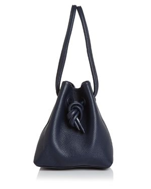 VASIC Bond Small Leather Tote in Navy Blue/Gold