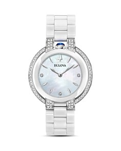 Bulova - Rubaiyat Diamond & Mother-of-Pearl Dial Watch, 35mm