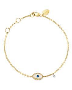 Meira T - 14K Yellow Gold & 14K White Gold Evil Eye Diamond & Enamel Bracelet