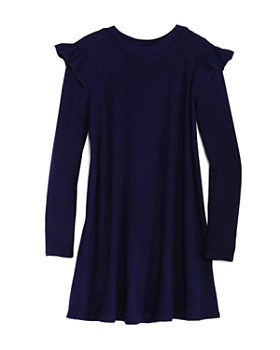 AQUA - Girls' Ribbed Swing Sweater Dress, Big Kid - 100% Exclusive