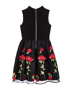 US Angels - Girls' Choker Velvet & Embroidered Dress - Big Kid