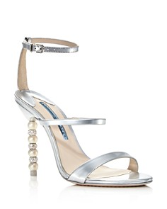 Sophia Webster - Women's Rosalind Crystal & Pearl Metallic Leather High-Heel Sandals
