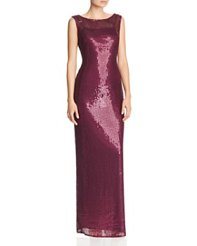 Adrianna Papell - Sequined Column Gown