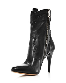 Charles David - Women's Kimberly Pointed Toe Leather High-Heel Booties