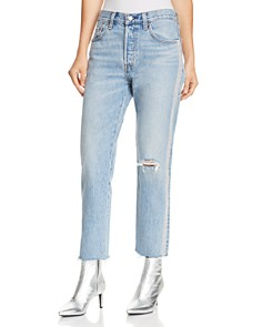 Levi's - 501 Crop Straight Jeans in Diamond In The Rough