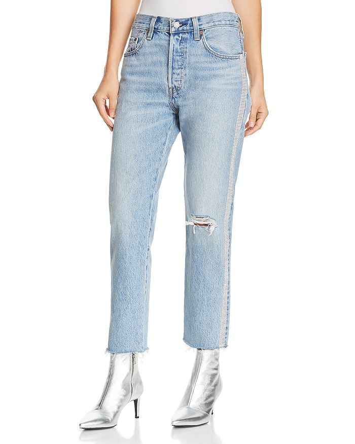2140b701267 Levi s - 501 Crop Straight Jeans in Diamond In The Rough