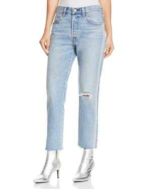 501 Crop Straight Jeans In Diamond In The Rough