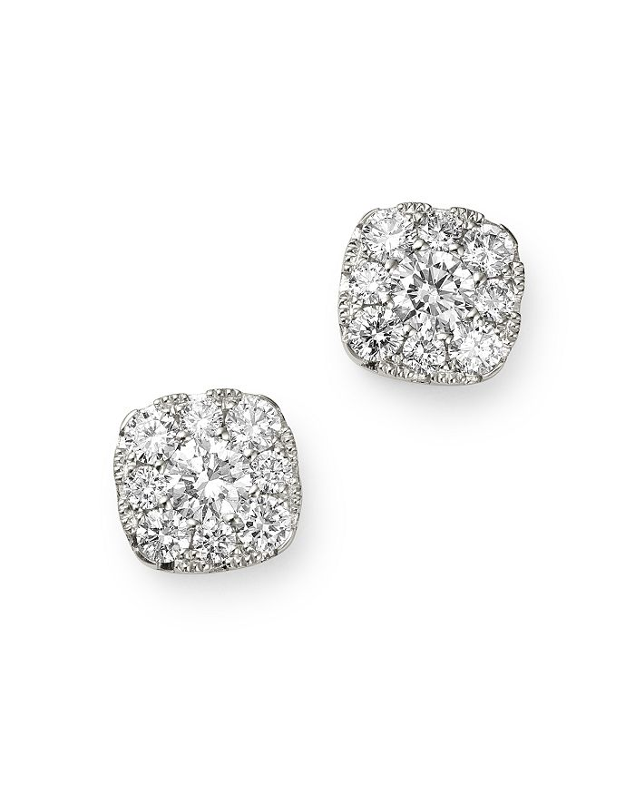 Bloomingdale's DIAMOND MEDIUM CLUSTER STUD EARRINGS IN 14K WHITE GOLD, 0.50 CT. T.W. - 100% EXCLUSIVE