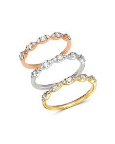 Bloomingdale's Diamond Helix Stacking Rings in 14K Gold_0