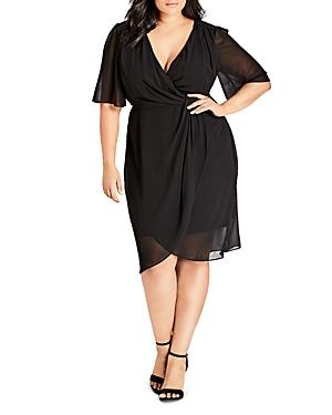 City Chic Plus Twist-Front Dress