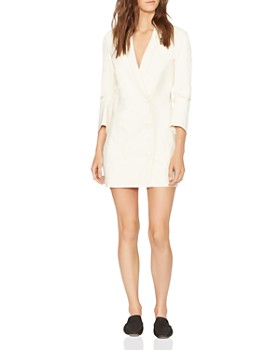 HALSTON HERITAGE - Double-Breasted Lapeled Mini Dress