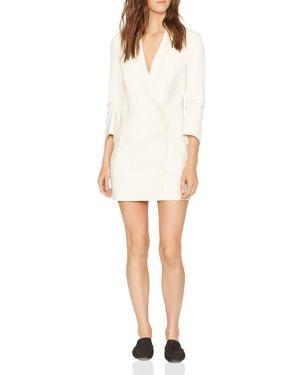 Halston Heritage Double-Breasted Lapeled Mini Dress 3132048