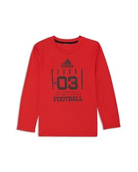 Adidas - Boys' Long Sleeve Football Graphic Tee - Little Kid