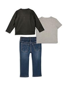 Hudson - Boys' Faux Leather Biker Jacket, Stay Wild Graphic Tee & Jeans Set - Little Kid
