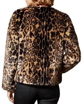 KAREN MILLEN - Leopard Print Faux Fur Jacket