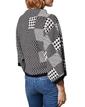 KAREN MILLEN - Check Jacquard Sweater