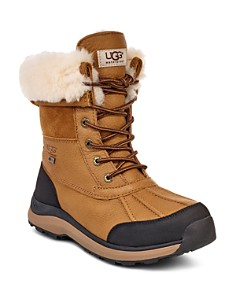 UGG® - Women's Adirondack Round Toe Leather & Suede Waterproof Booties