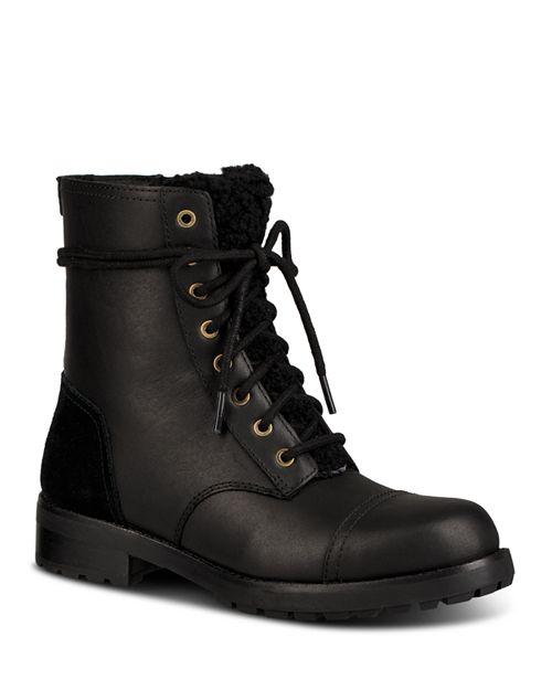 Bloomingdale's amp; Kilmer Round Leather Sheepskin Boots Women's Ugg® Toe g8TqA4w