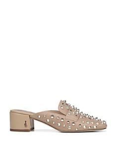 Sam Edelman - Women's Augustus Almond Toe Studded Mules