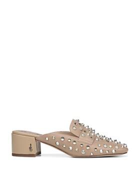 Sam Edelman - Women's Augustus Almond Toe Studded Leather Mules