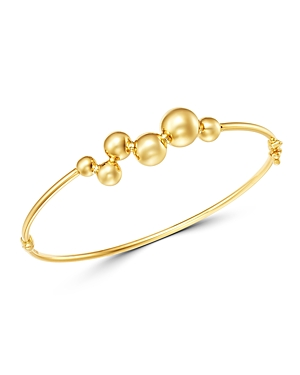 Bloomingdale's Beaded Bangle Bracelet in 14K Yellow Gold - 100% Exclusive