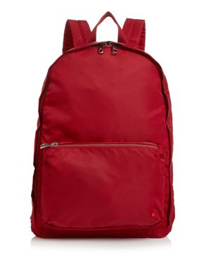 STATE Lorimer Neon Trim Backpack in Red Dahlia/Silver
