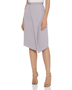 REISS - Sidney Satin-Trimmed Skirt