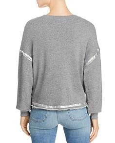 Splendid - Foil-Trim Terry Sweatshirt