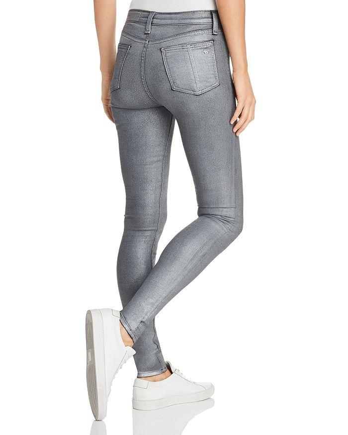 3ee7a80b111 rag   bone JEAN High-Rise Coated Ankle Skinny Jeans in Gunmetal ...