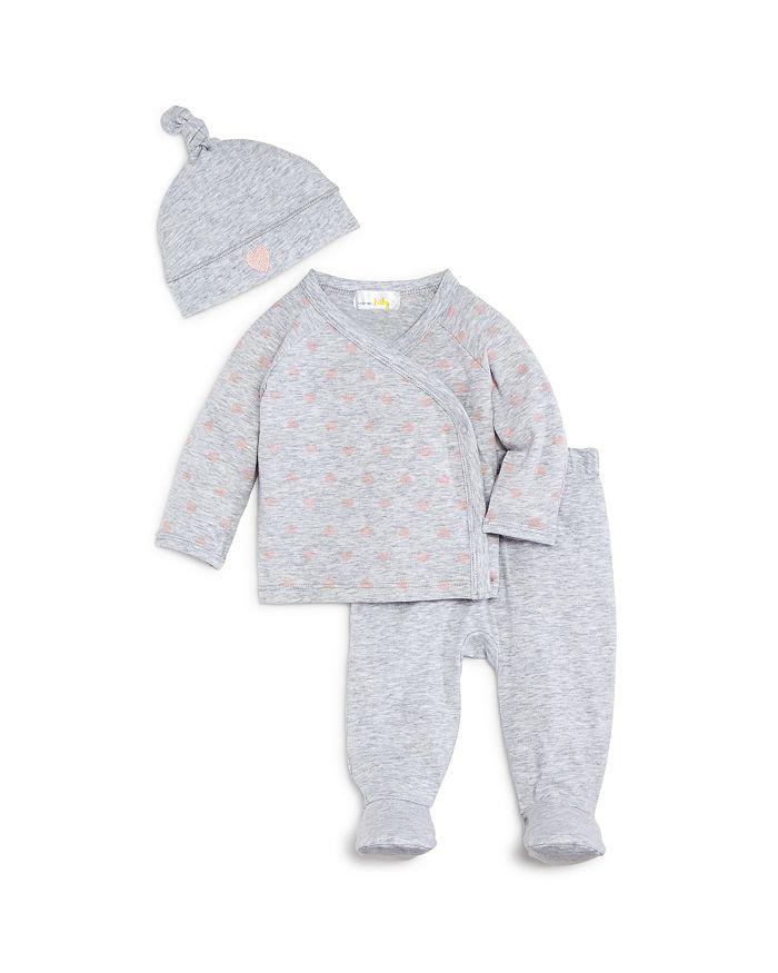 Bloomie's - Girls' Take Me Home Shirt, Footie Pants & Hat Set - Baby