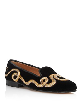 Stubbs & Wootton - Women's Cobra Velvet Loafers