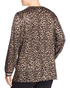 JUNAROSE Plus - Ellen Metallic Leopard-Print Blouse