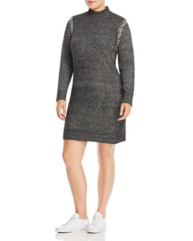 ffb78e3411a One A Plus - Whipstitched Sweater Dress ...