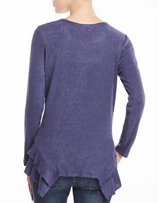 Status by Chenault - Tiered Ruffle Trim Sweater