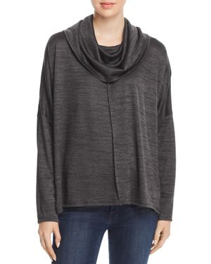 STATUS BY CHENAULT Status By Chenault Cowl Neck Poncho Sweater in Black