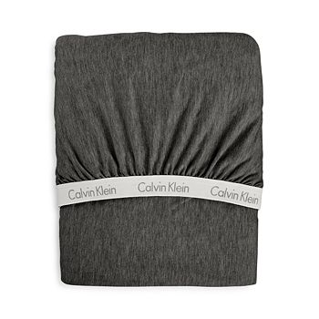 Calvin Klein - Modern Cotton Jersey Body Solid Fitted Sheet, Twin XL