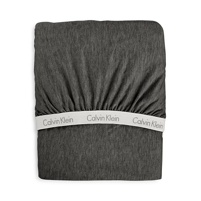 Calvin Klein - Modern Cotton Jersey Body Solid Fitted Sheet, Twin