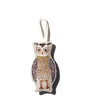 Coral & Tusk Owl Embroidered Ornament