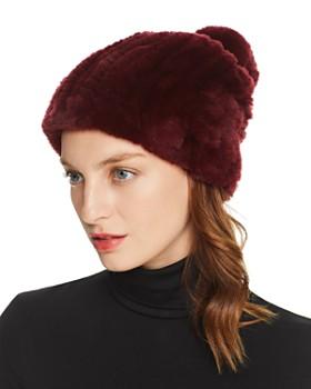 Maximilian Furs - Knit Rex Rabbit Fur Hat - 100% Exclusive