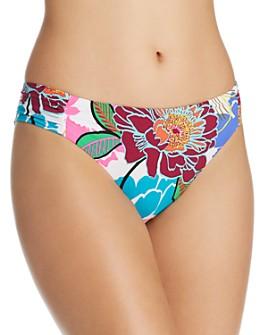 Trina Turk - Bloom Shirred Side Hipster Bikini Bottom