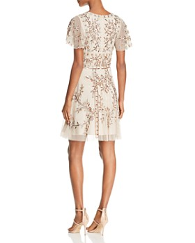 Aidan Mattox - Embellished Mesh Dress
