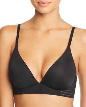 HONEYDEW Micki Plunge Lounge Bralette in Black