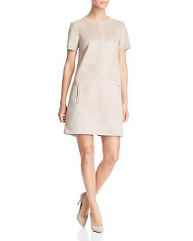 52b820d5a9a63 Elie Tahari - Bridgett Faux-Suede Shift Dress ...
