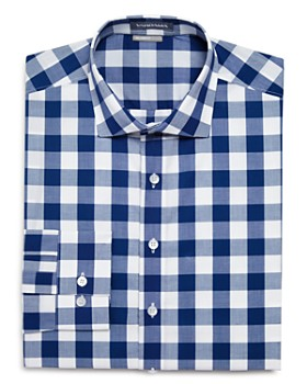 Vardama - Chambers Exploded-Gingham Regular Fit Dress Shirt