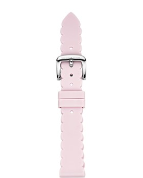 kate spade new york - Pink Scalloped Edge Rubber Smartwatch Strap, 16mm
