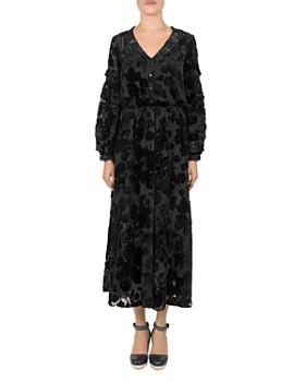 The Kooples - Magic Flocked Velvet Dress