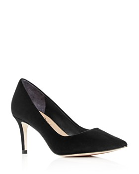 Joan Oloff - Women's Deborah Suede Pointed-Toe Pumps