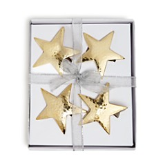 Aman Imports - Hammered Star Napkin Rings, Set of 4 - 100% Exclusive